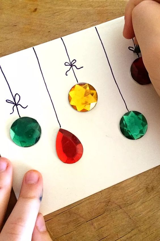 easy diy gemstones christmas card - Christmas Decorations To Make And Sell