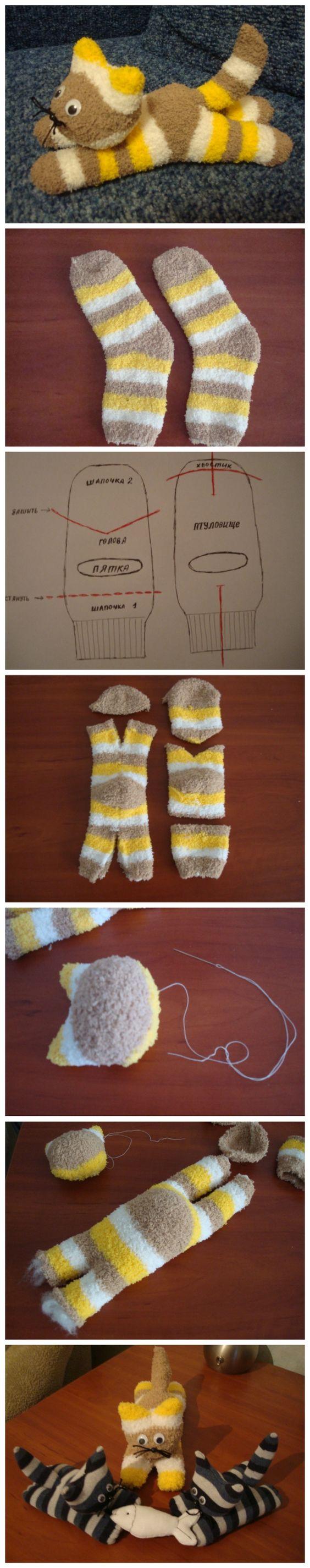 DIY Cute Sock Kitten.