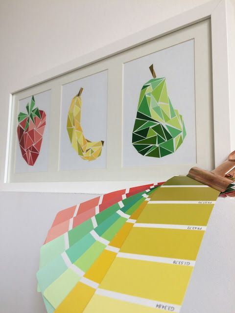 Collage Color Fruit Wall Art