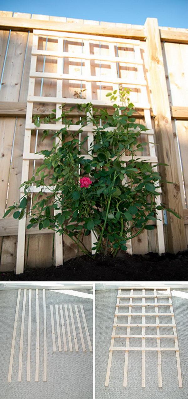 $6 DIY Garden Trellis.