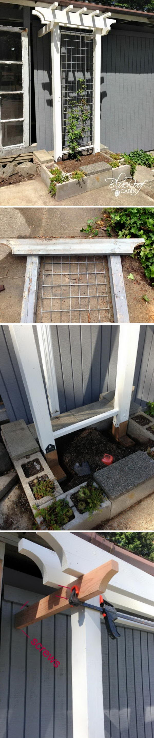 Awesome DIY Garden Trellis.