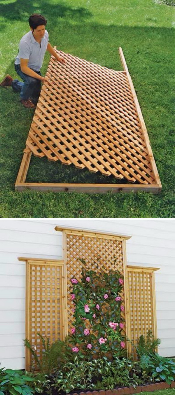 Diy Wood Lattice Trellis