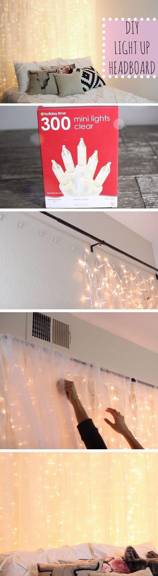 bedroom diy. diy light up headboard bedroom diy