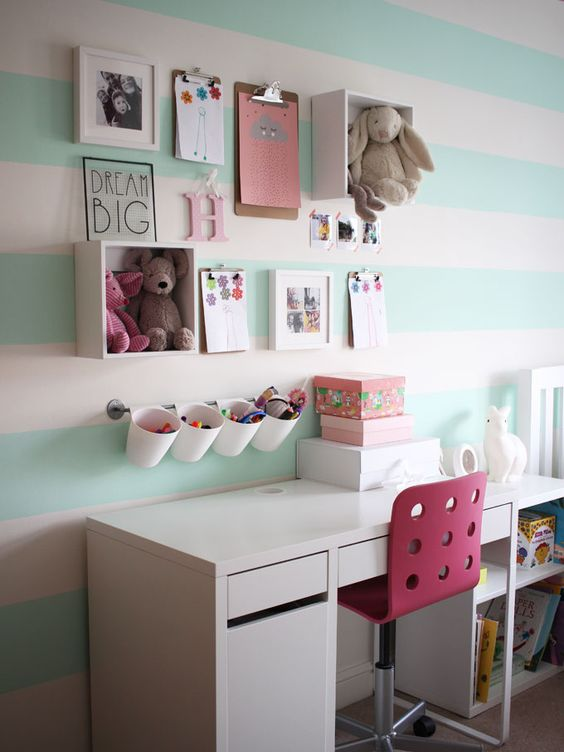 A Little Girl's Mint Green Bedroom Tour.