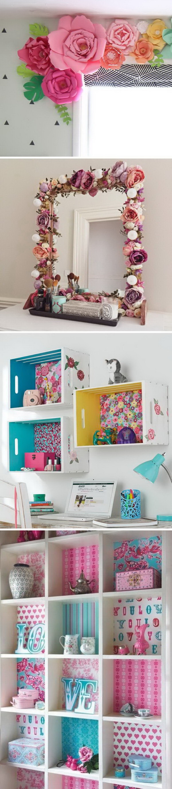 Awesome DIY Projects To Decorate A Girl's Bedroom.