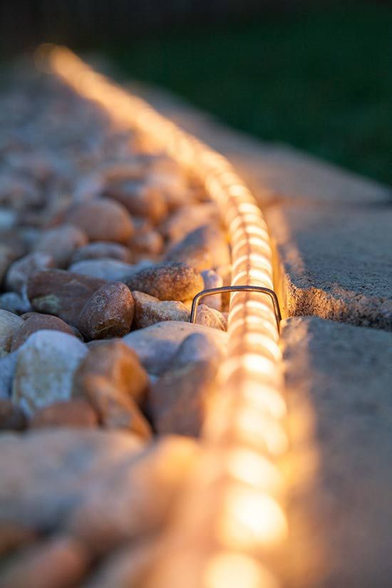 Outdoor Walkway Lights Using Roap.