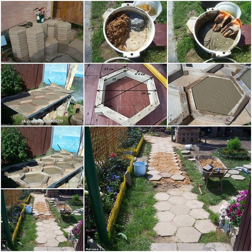 30 creative pathway walkway ideas for your garden Round wooden stepping stones