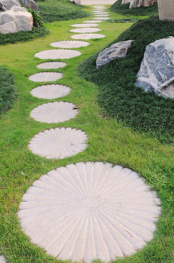 Garden Pathway Stone Pebble Mosaic
