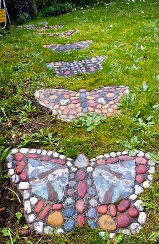 Butterfly Stepping Sones Pathyway.