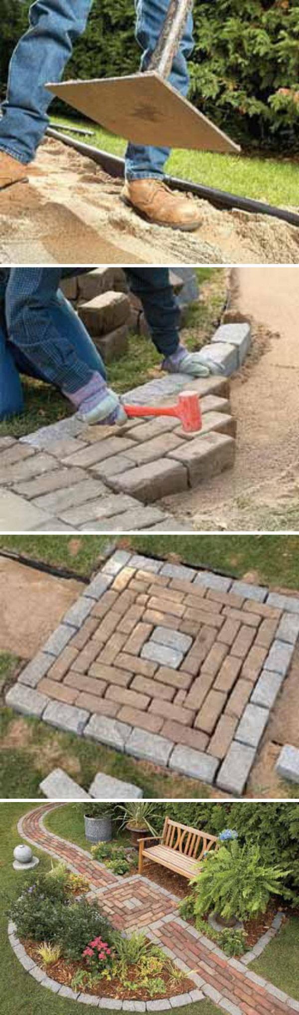 DIY Brick Pathway.