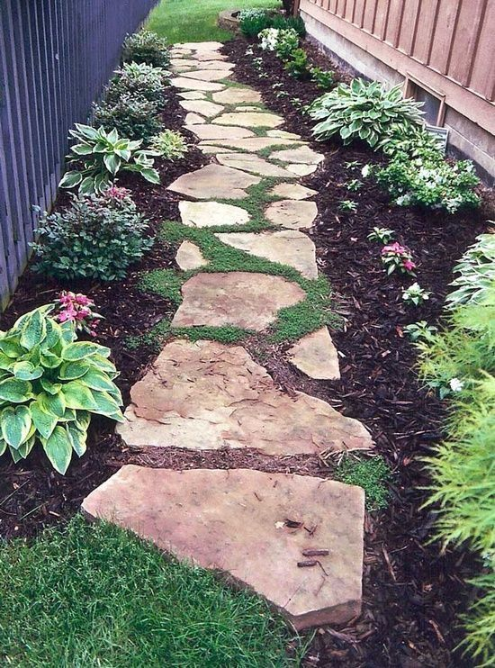 Bluestone Flagging Stepping Stone Pathway