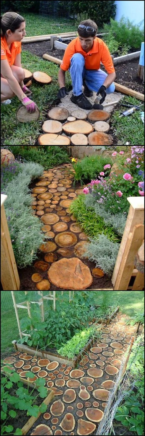 DIY Natural Log Pathway.