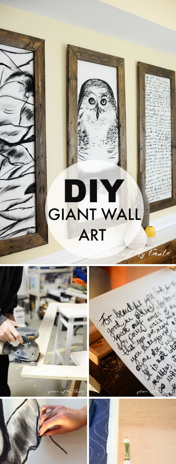 DIY Rustic Giant Wall Art.