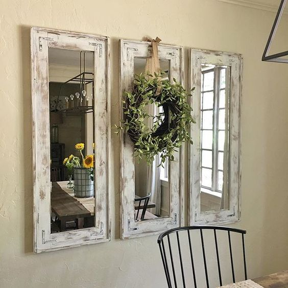 DIY Rustic Wall Mirrors Made from Plywood and Cheap Frameless Mirrors .