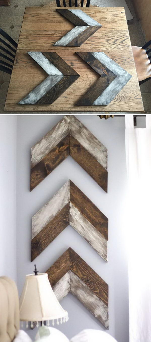 DIY Chevron Wooden Arrows.