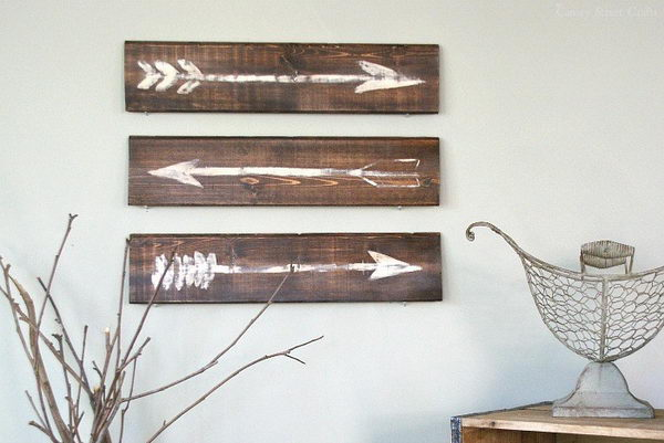 Rustic Painted Arrows.