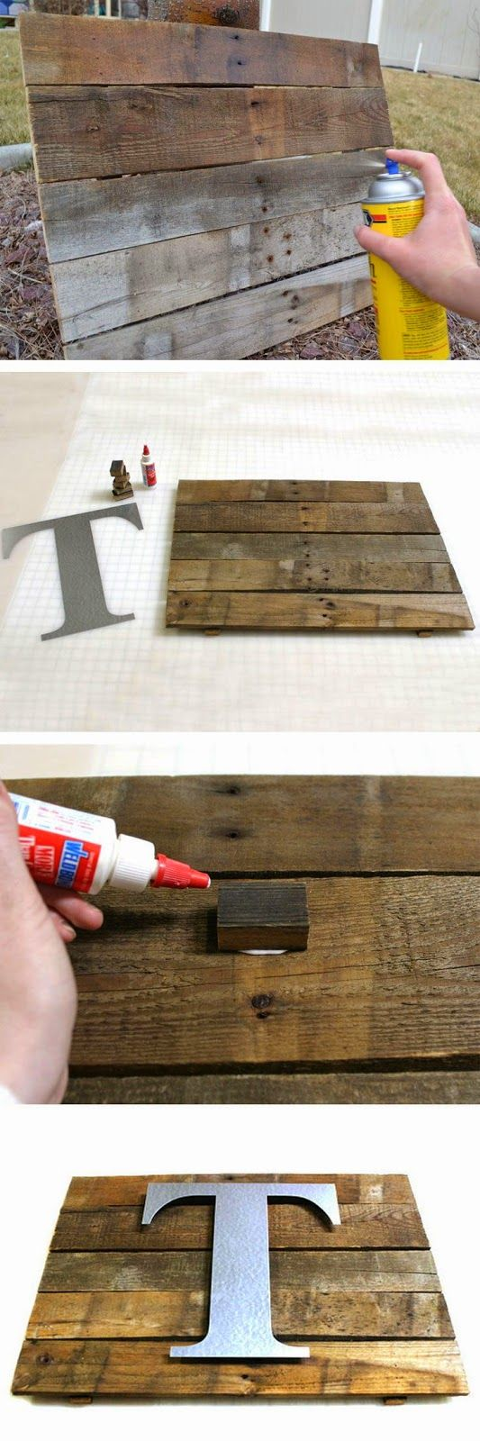 DIY Rustic Pallet  Wall Plaque.