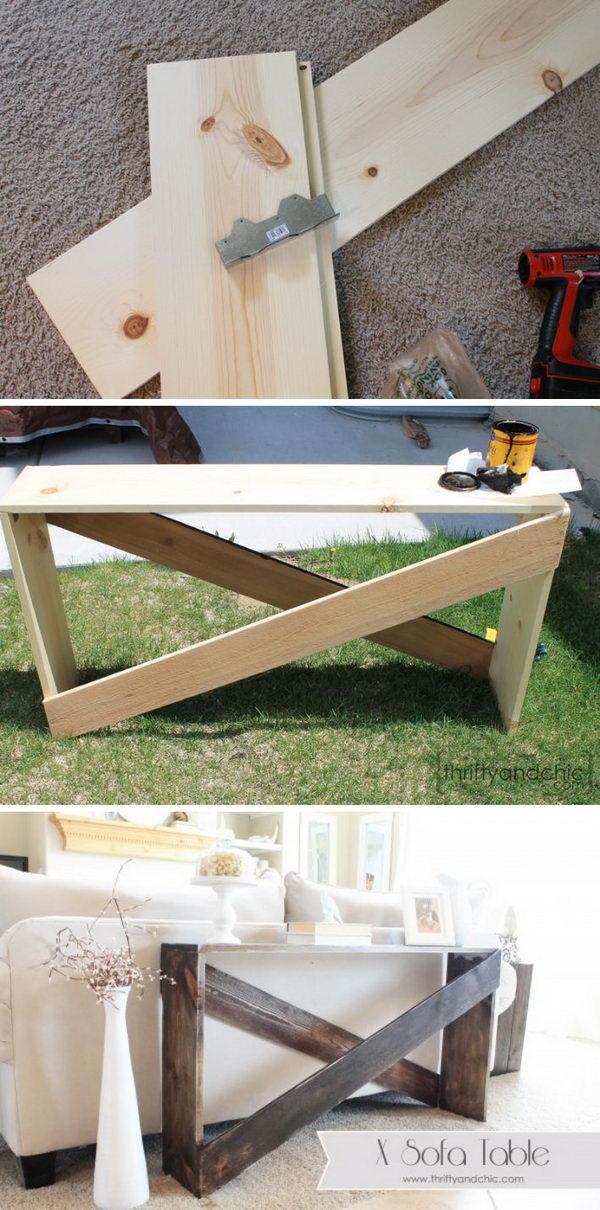 Stylish and Simple DIY Sofa Table.