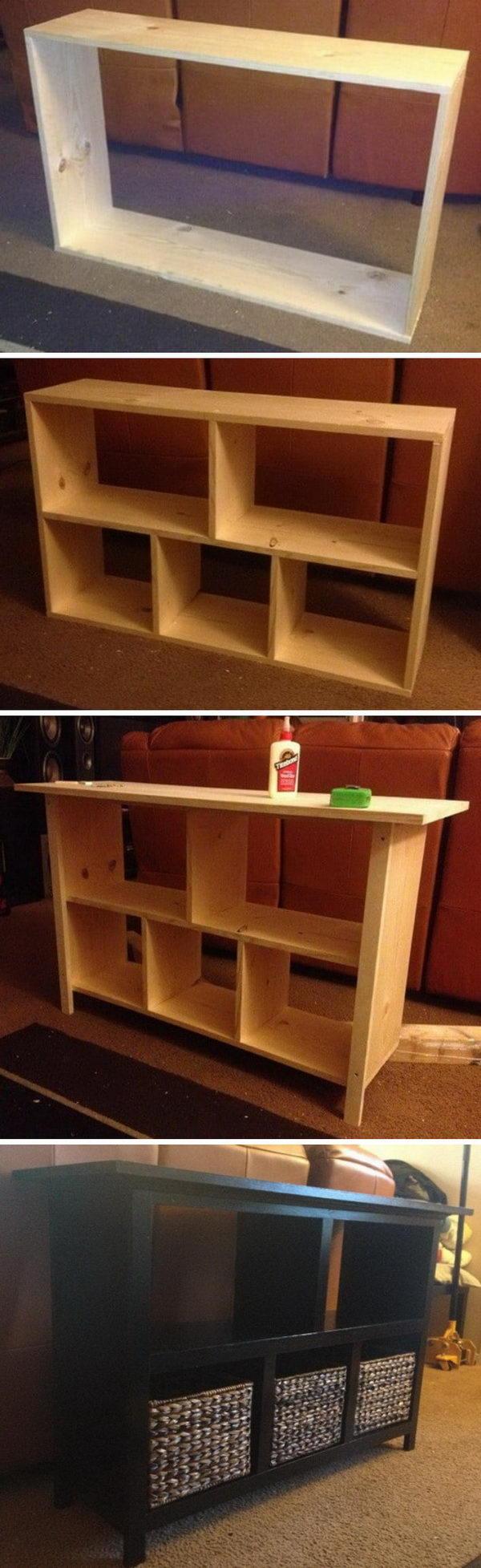 Easy DIY sofa Table.