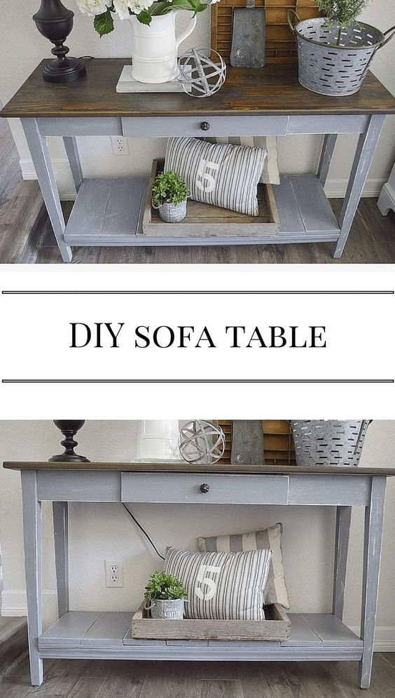20 Easy Diy Console Table And Sofa Table Ideas Hative