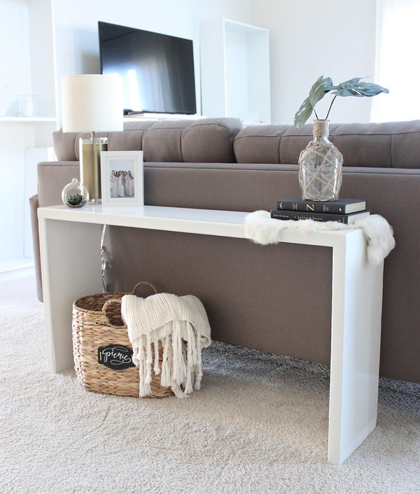 20 easy diy console table and sofa table ideas hative diy wood console table watchthetrailerfo