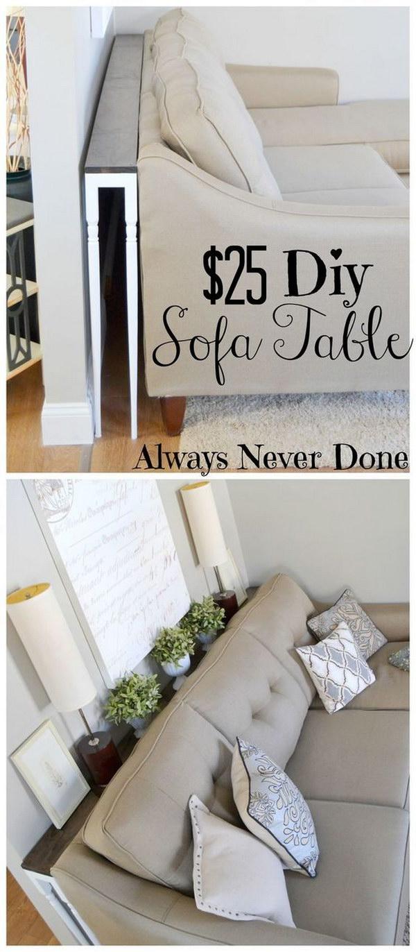 $25 DIY Sofa Table Tutorial.