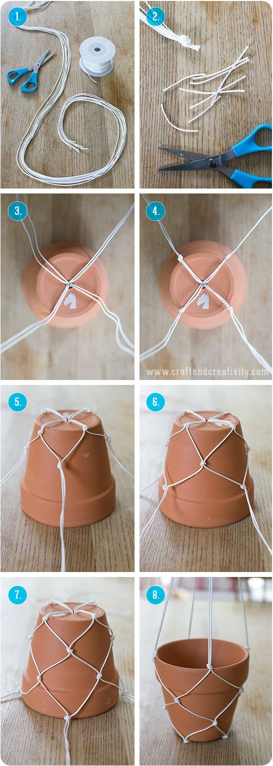 Easy DIY Hanging Planter.
