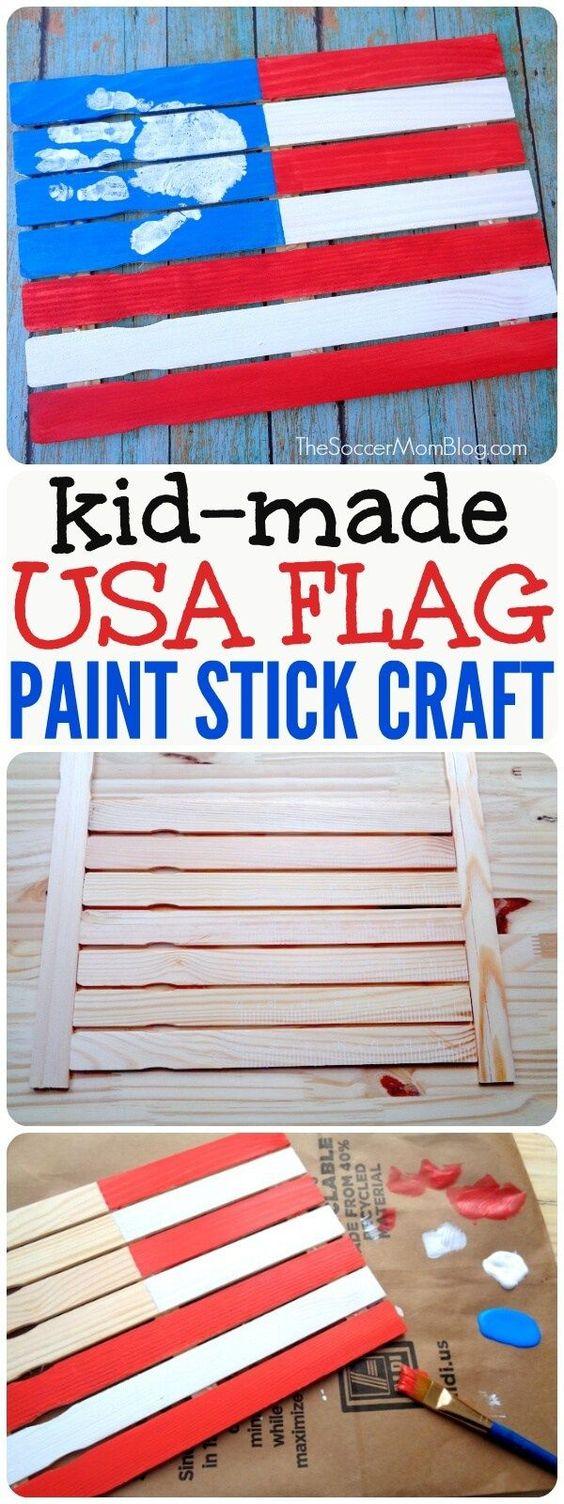 Paint Stick American Flag.