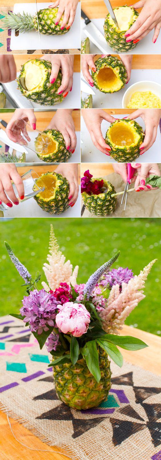 DIY Pineapple Vase.