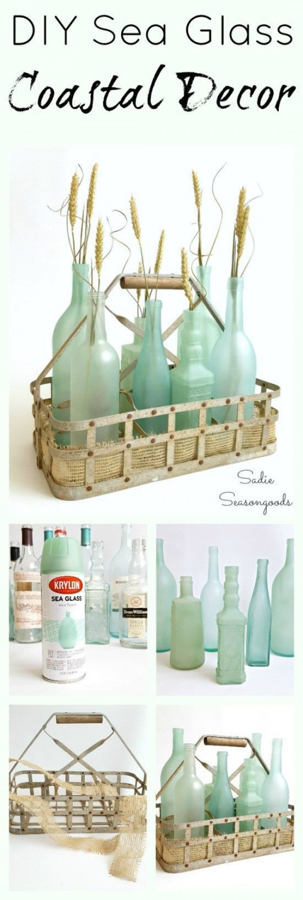 Sea Glass Bottles.