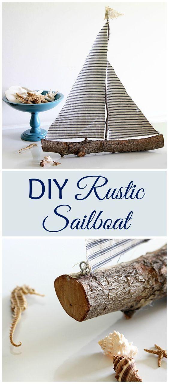DIY Rustic Sailboat.