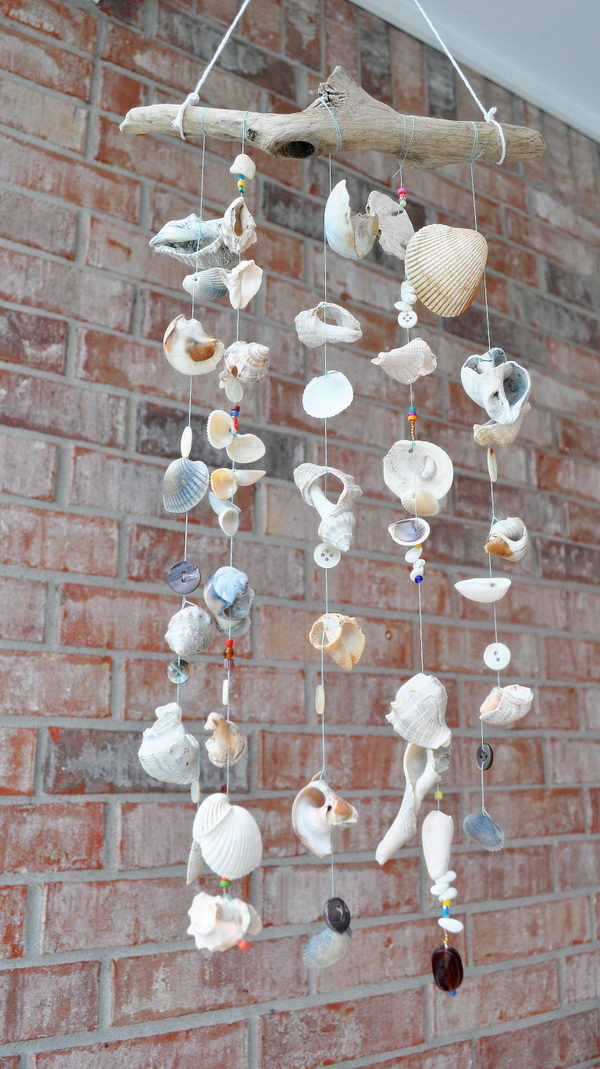 DIY Seashore Wind Chimes.
