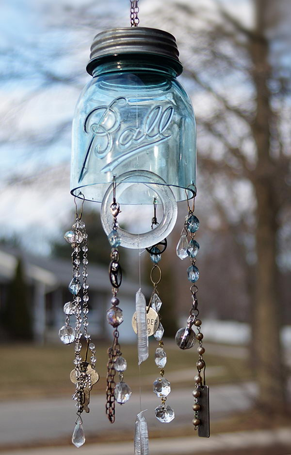 DIY Mason Jar Wind Chimes.