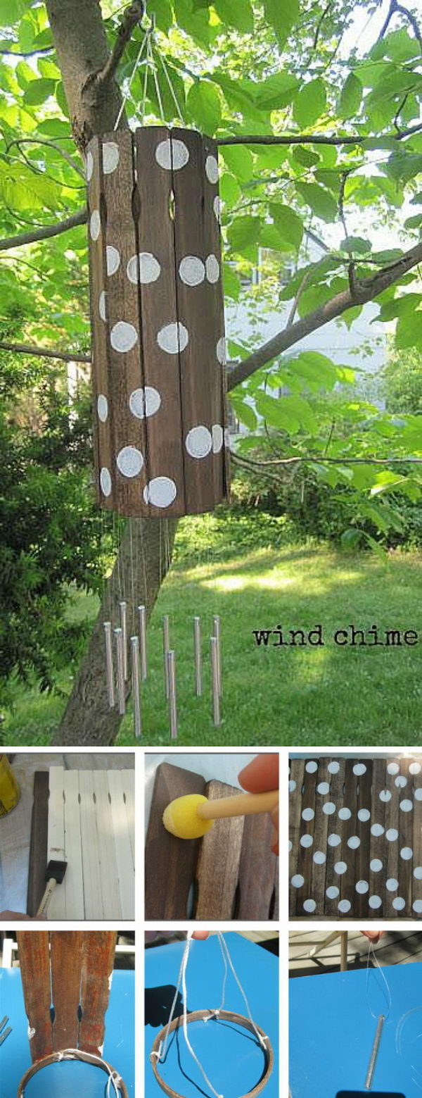 DIY Paint Stick Wind Chime.
