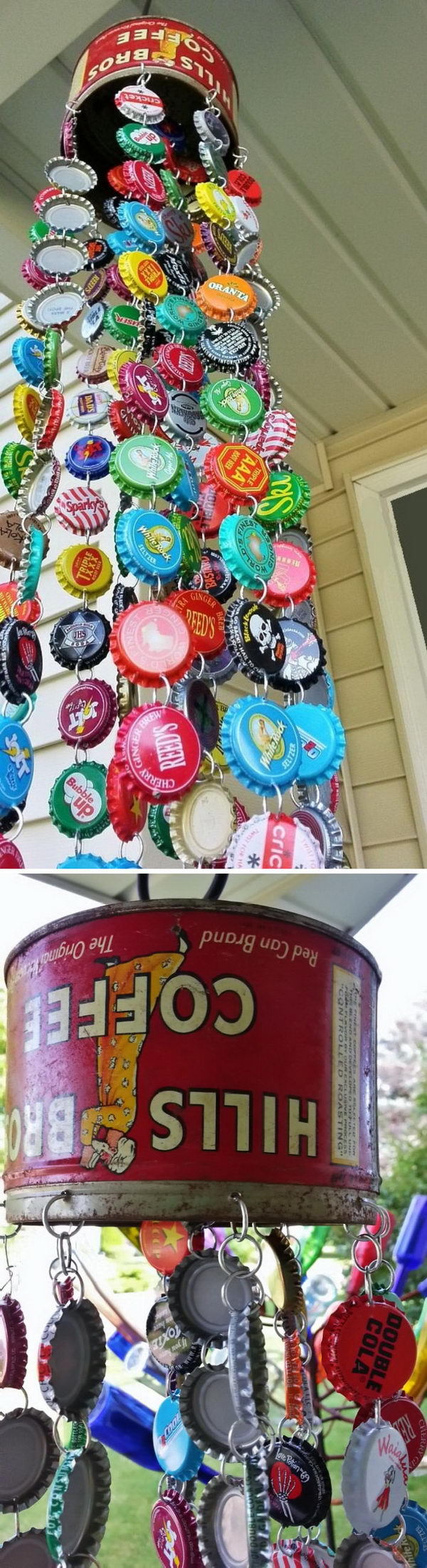 DIY Bottle Cap Wind Chime.