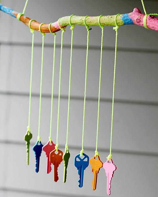 DIY Key Wind Chime.