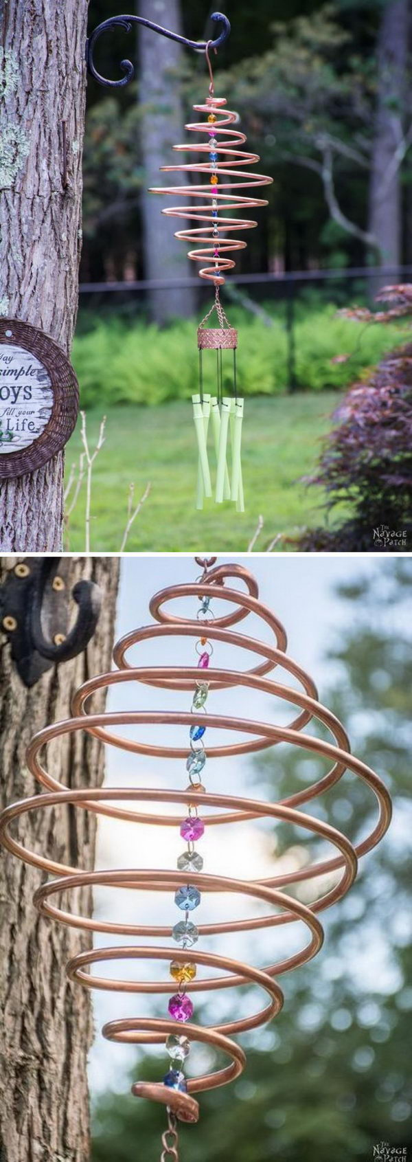 Coiled Copper Wind Chimes.