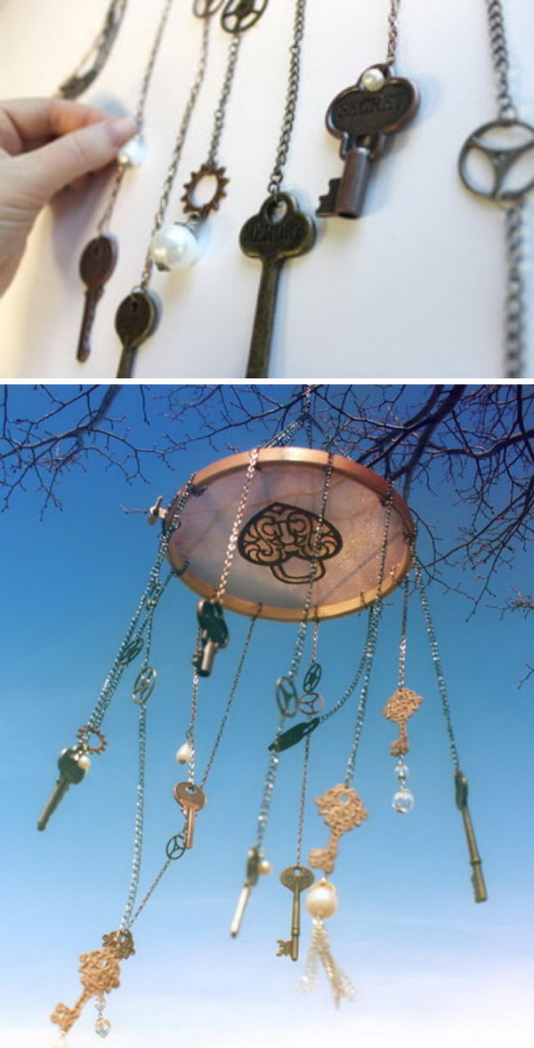 DIY Steampunk Wind Chime.
