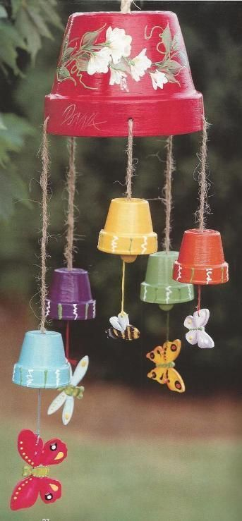 Clay Pot Wind Chimes.