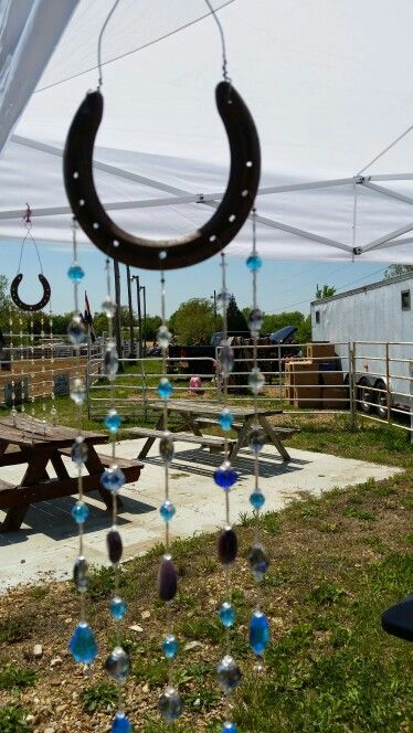Horse Shoe Beaded Wind Chime.