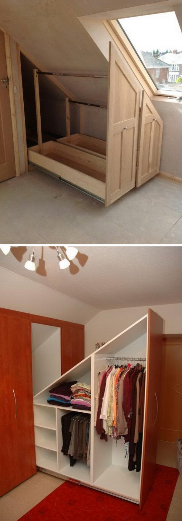 20+ Clever Storage Ideas For Your Attic - Hative