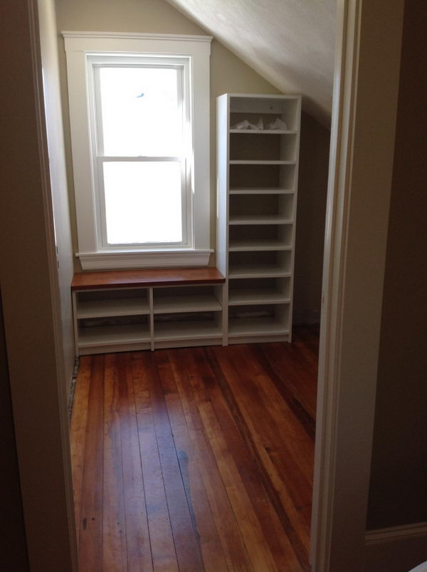 Add Window Seat and Tall Cabinet.