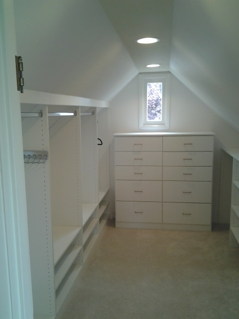Add A Little Dresser In The Walk In Attic Closet.