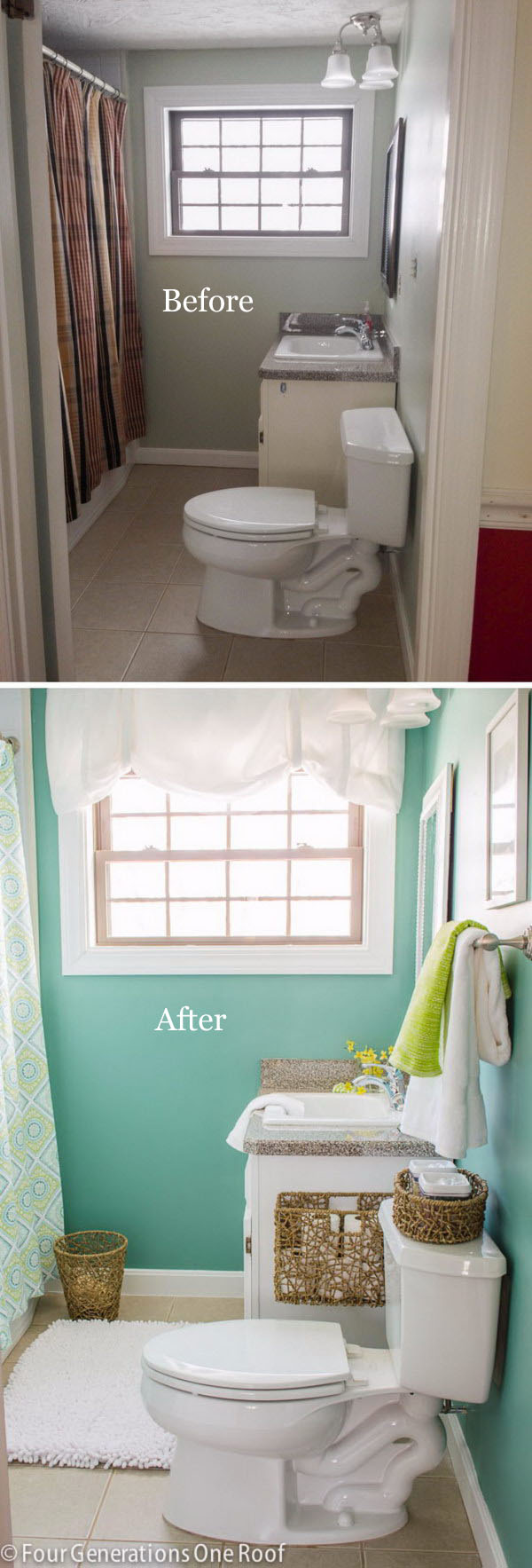 Gorgeous Bathroom Makeovers With Before And After Photos Hative - Low cost bathroom makeovers