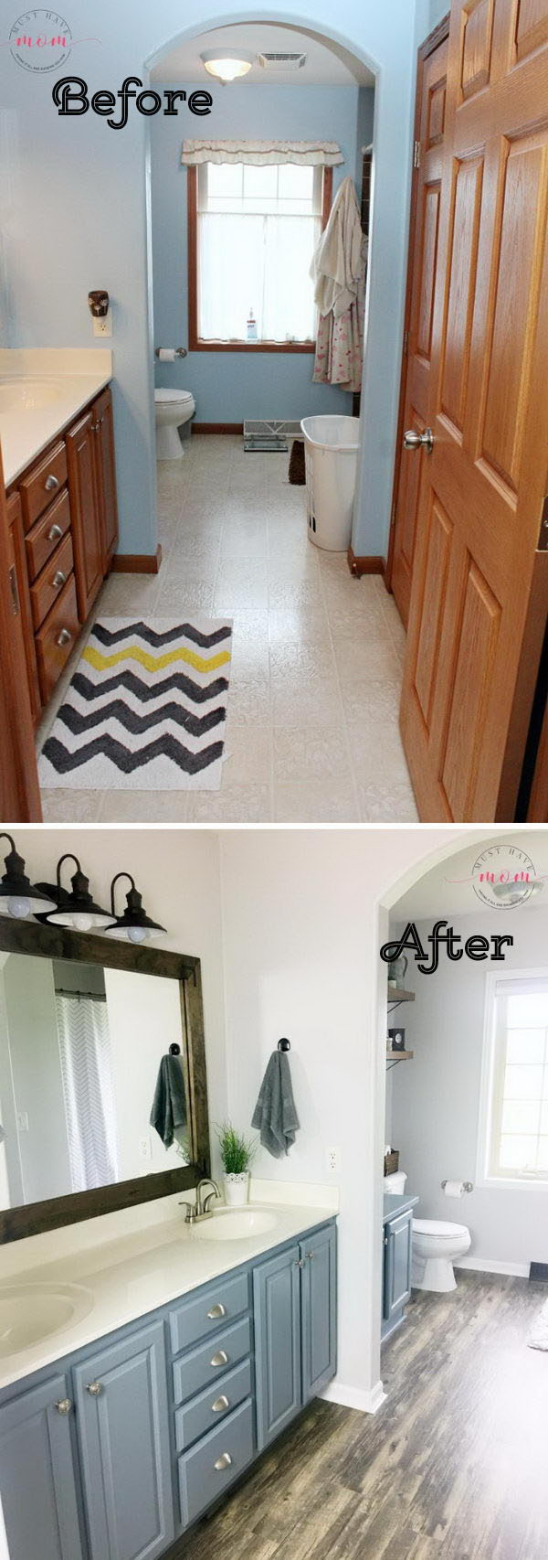 Terrific 50 Gorgeous Bathroom Makeovers With Before And After Photos Best Image Libraries Thycampuscom