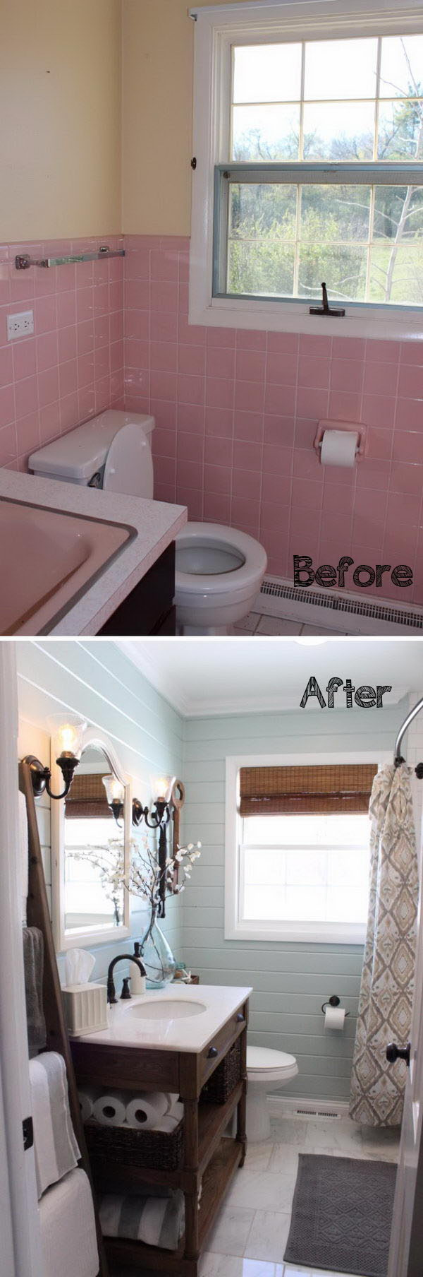 50+ Gorgeous Bathroom Makeovers With Before And After ...
