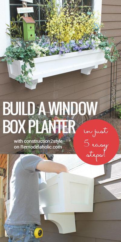 Enhance the Exterior Using DIY Window Box Planter.