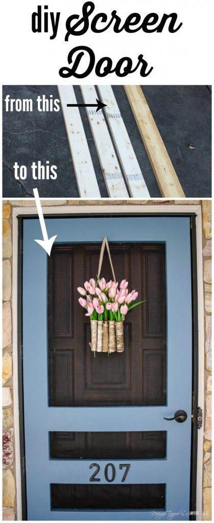 Add a Punch of Color to a Porch with DIY Screen Door.
