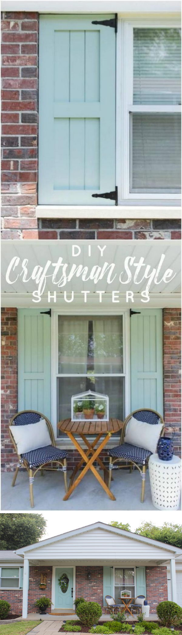 Flank a Window with Decorative Outdoor Shutters.