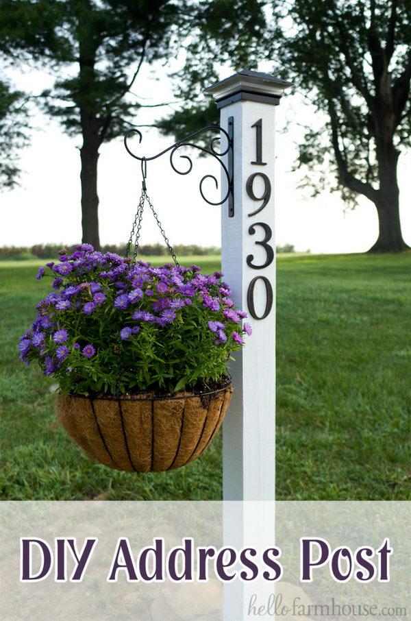 Make an Easy DIY Address Post on A Budget.